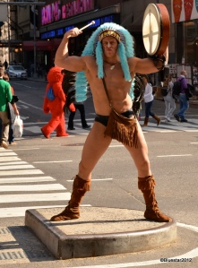 """Naked Indian"" of Times Square"